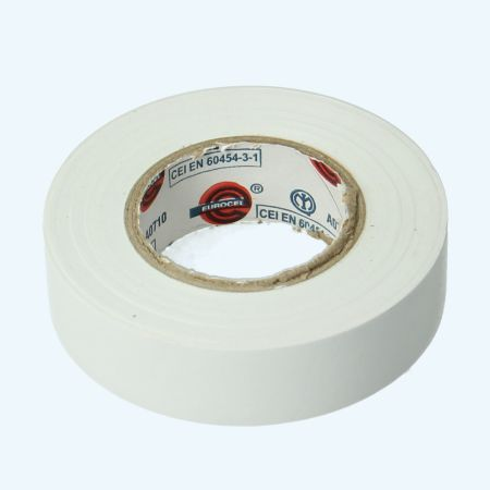 Isolatietape 19 mm x 25 meter wit