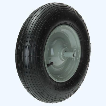 Kruiwagenwiel met luchtband (metalen velg)