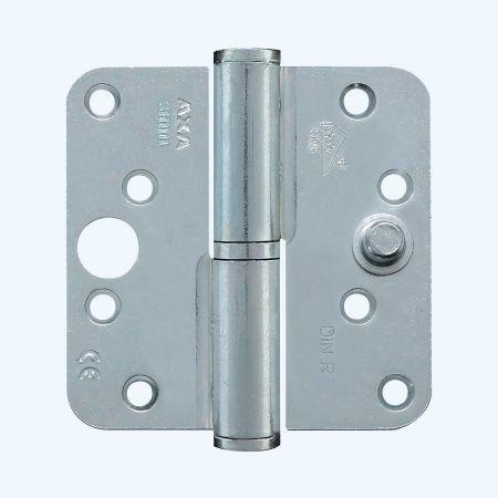 AXA kogelstiftpaumelle ronde hoeken, SKG***, staal, 89 x 89 mm, RECHTS