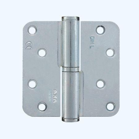 AXA kogelstiftpaumelle ronde hoeken, staal 89 x 89 mm, LINKS