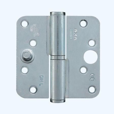 AXA kogelstiftpaumelle ronde hoeken, SKG***, staal, 89 x 89 mm, LINKS