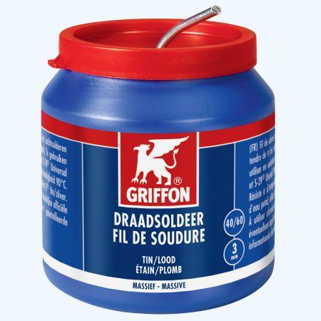 Griffon draadsoldeer tin/lood 40/60 harskern 500 gram