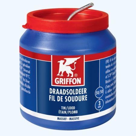 Griffon draadsoldeer tin/lood 50/50 massief 500 gram