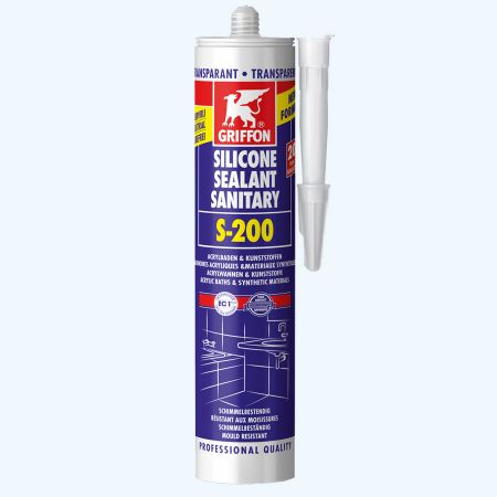 Griffon Silicone sanitaire S-200 300 ml (transparant)