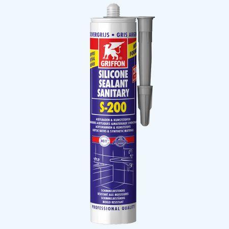 Griffon Silicone sanitaire S-200 300 ml (zilvergrijs)
