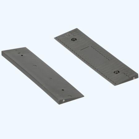 100 stuks schuine kunststof glasblokjes ZWART 100x26x5/1 mm