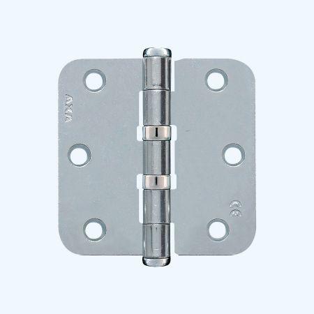 AXA kogellagerscharnier ronde hoeken, staal, 76 x 76 mm