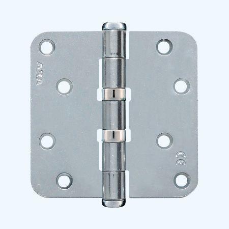 AXA kogellagerscharnier ronde hoeken, staal, 89 x 89 mm