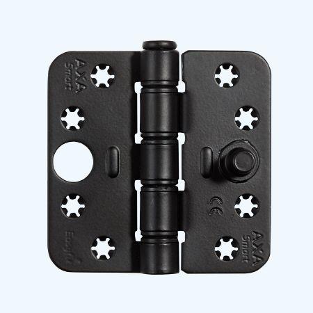 AXA Easyfix veiligheidsscharnier ronde hoeken, SKG***, zwart, 89 x 89 mm