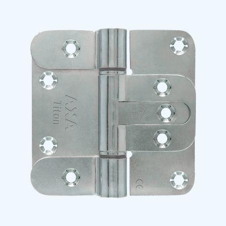 AXA Titan scharnier ronde hoeken, SKG***, staal 89 x 89 mm