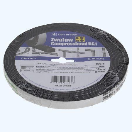 Compressband Zwaluw 15x15mm 10 meter