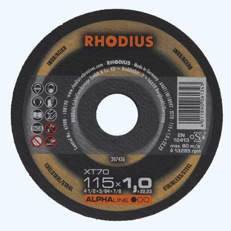 Doorslijpschijf voor INOX 115 x 1,0 x 22,23 mm (Rhodius)
