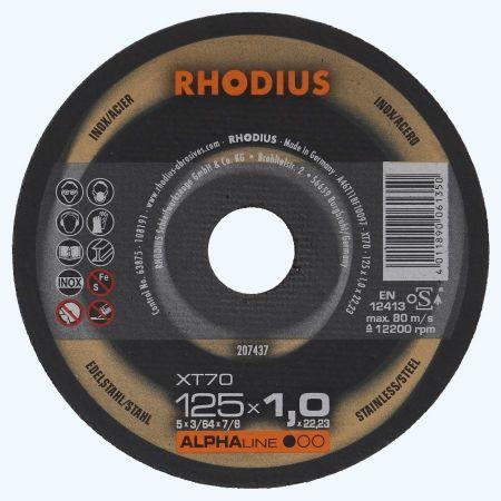 Doorslijpschijf voor INOX  125 x 1,0 x 22,23 mm (Rhodius)