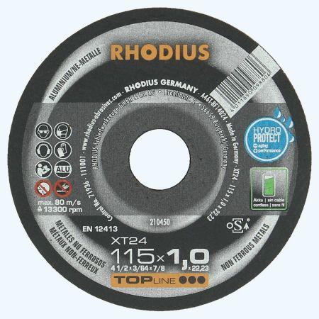 Doorslijpschijf ALUMINIUM 115 x 1,0 x 22,23 mm (Rhodius)