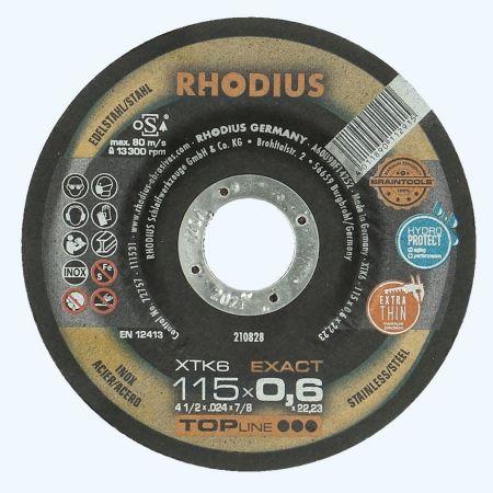 Doorslijpschijf voor INOX 115 x 0,6 x 22,23 mm (Rhodius)