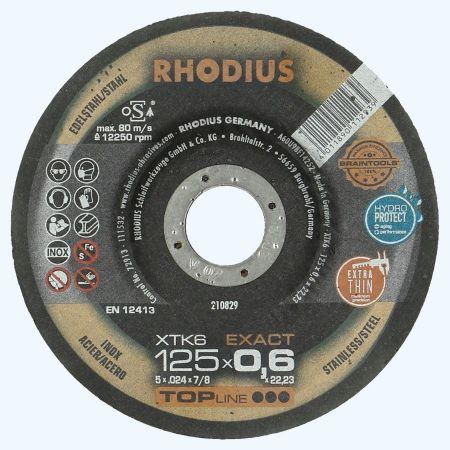 Doorslijpschijf voor INOX 125 x 0,6 x 22,23 mm (Rhodius)