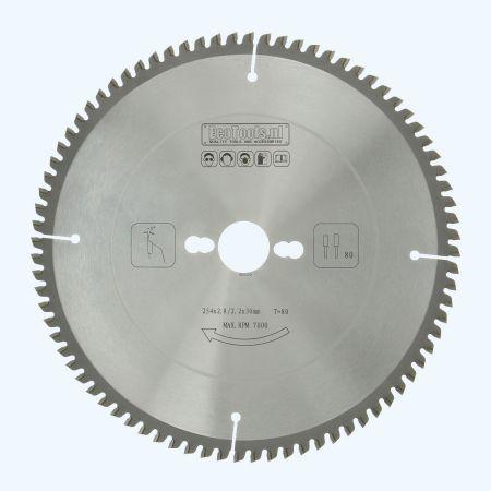 HM-zaagblad 254 x 30 mm T=80 (vlak-daktand)