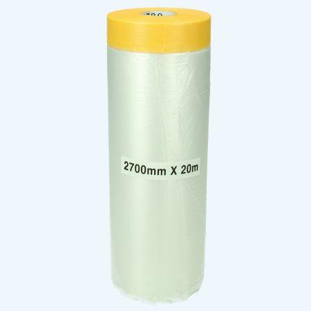 Afplaktape rijstpapier met folie 2700 mm x 20 meter