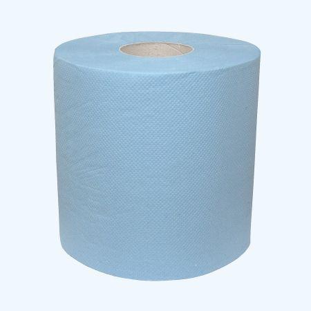 1 x Poetsrol 2-laags blauw 26 cm x 380 meter