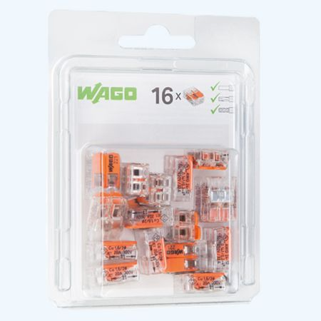WAGO 2V verbindingsklem 4mm² (16 stuks)