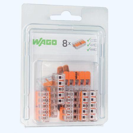WAGO 5V verbindingsklem 4mm² (8 stuks)