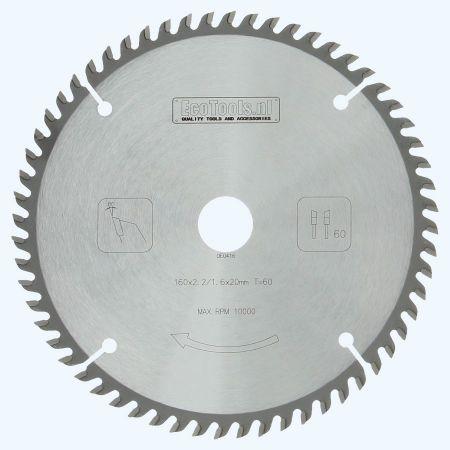 hardmetalen zaagblad 160x20 mm T=60