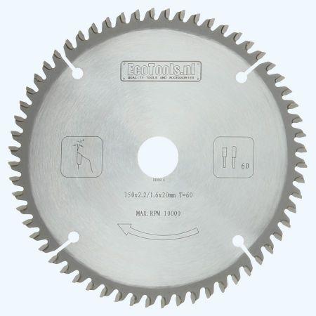 zaagblad 150 x 20 mm T=60 (vlak-daktand)