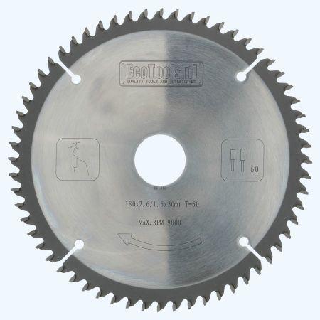 HM-zaagblad 180 x 30 mm T=60 (vlak-daktand)