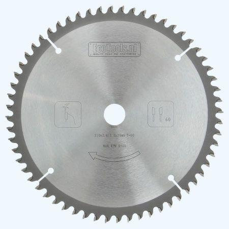 Hm-afkortzaagblad Prof 210 x 20 mm T=60