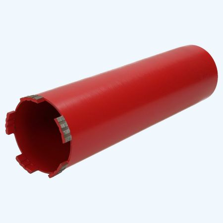 Diamantboor droog 62 x 280 mm met afzuigopeningen