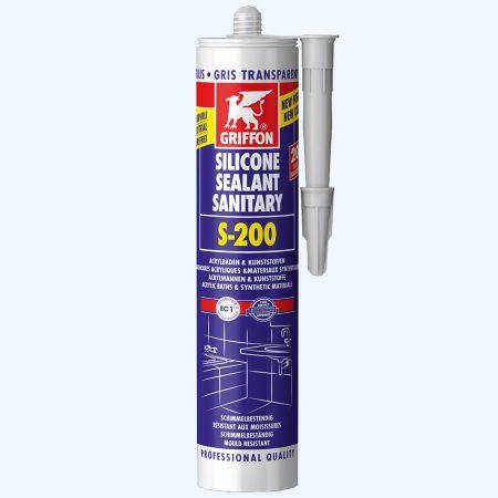 Griffon Silicone sanitaire S-200 300 ml (transparant grijs)