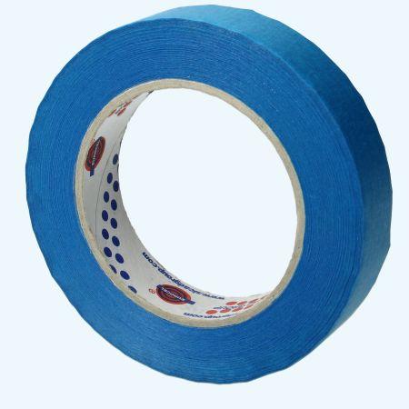 Afplaktape blauw 19 mm x 50 meter