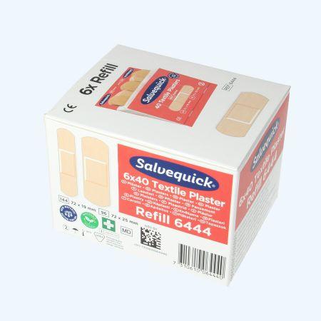 Salvequick navulling elastisch (doosje met 6 stuks)