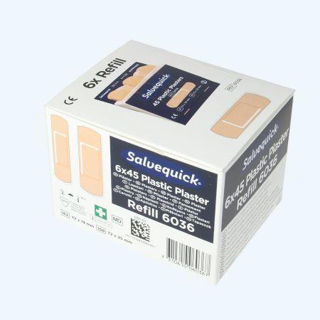 Salvequick navulling plastic (doosje met 6 stuks)