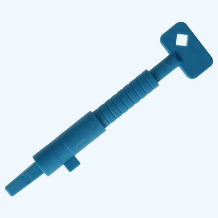 Bouwsleutel kunststof blauw