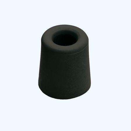Deurbuffer 37 x 48 mm zwart