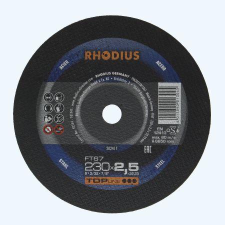 Doorslijpschijf METAAL 230 x 2,5 x 22,23 mm (Rhodius)