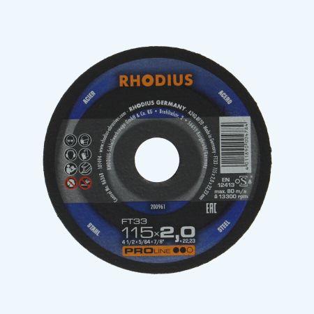 Doorslijpschijf METAAL 115 x 2,0 x 22,23 mm (Rhodius)