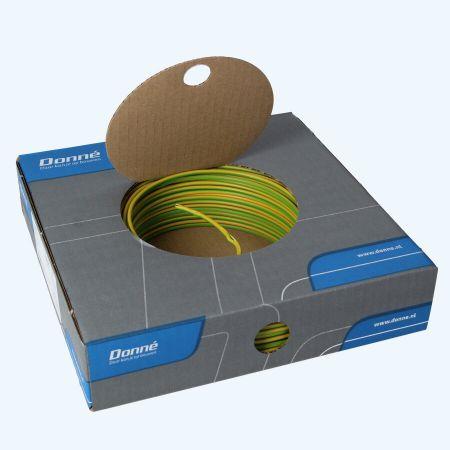 Donné VD Draad 2,5 mm² geel/groen (100 meter)