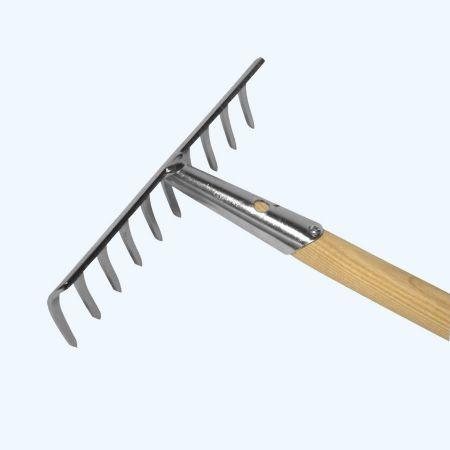 Hark verzinkt 10 tanden met essen steel 160 cm
