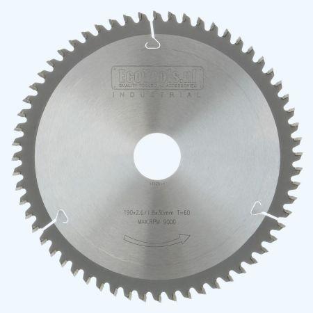 HM-zaagblad Industrial 190 x 30 mm T=60 (vlak-daktand)