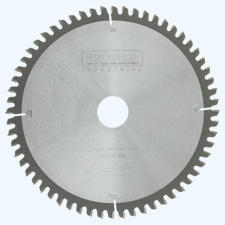 afkortzaagblad Industrial 210 x 30 mm met 60 wisseltanden