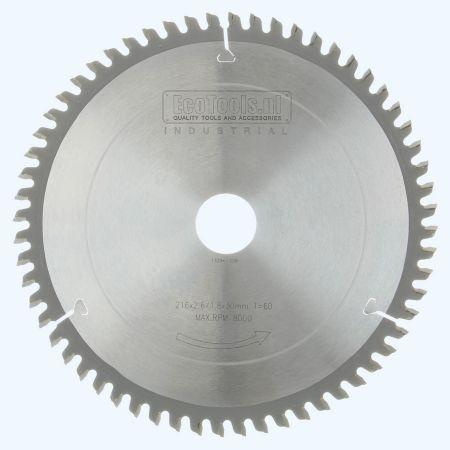 HM-zaagblad Industrial 216 x 30 mm T=60 (vlak-daktand)