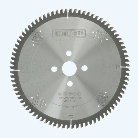 HM-zaagblad Industrial 250 x 30 mm T=80 (vlak-daktand)