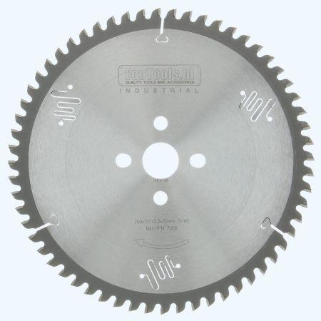 HM-zaagblad Industrial 260 x 30 mm T=60 (vlak-daktand)