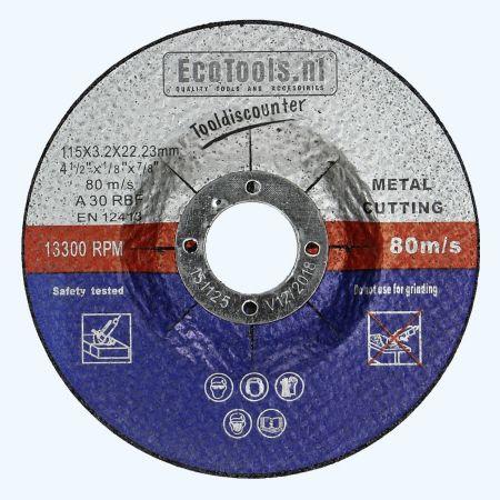Doorslijpschijf METAAL 115 x 3,2 x 22,23 mm (EcoTools)