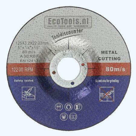 Doorslijpschijf METAAL 125 x 3,2 x 22,23 mm (EcoTools)