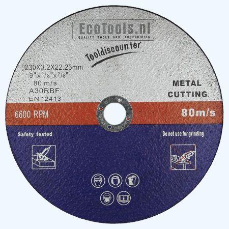 Doorslijpschijf METAAL 230 x 3,2 x 22,23 mm (EcoTools)