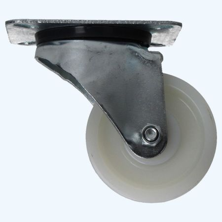 Nylon zwenkwiel 80 mm 100 kg