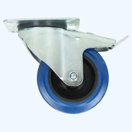 Zwenkwiel met rem RNB 80 mm 100 kg